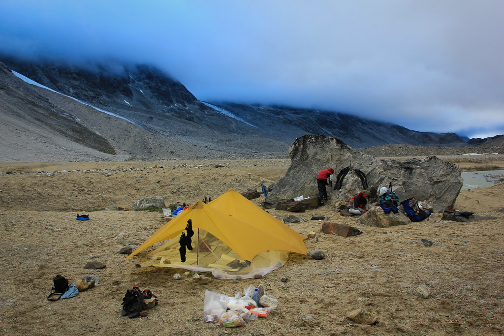 MSR Twing Tarp with custom stripped bug net, Tasilap kua Valley, East-Greenland