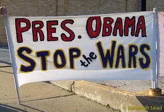 President Obama: Stop the Wars!