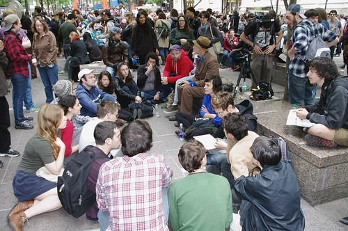Occupy Wall Street Group Discussion 2011 Shankbone by David Shankbone CC Flickr