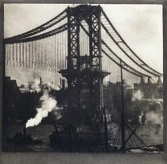 Unfinished Bridge, New York, by Alvin Langdon Coburn