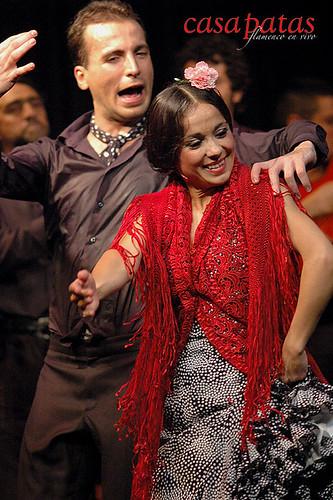 Olga Pericet y Marco Flores en el tablao de Casa Patas. Foto: Martín Guerrero