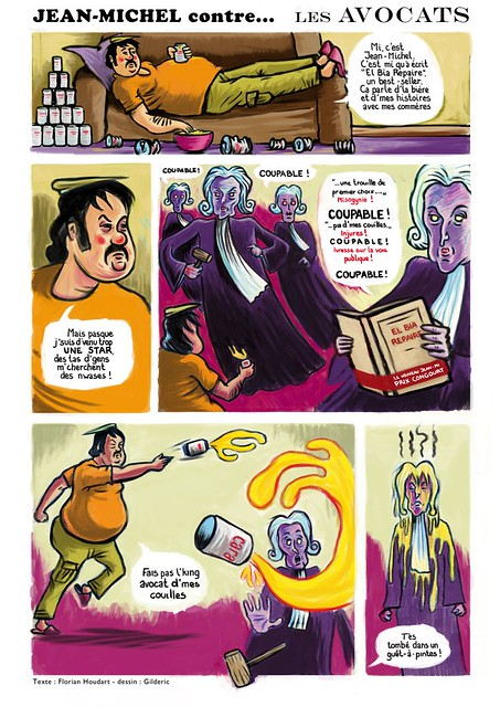 BD : Jean-Michel vs les Avocats (Scénario : Florian Houdart - Dessin et couleurs : Gilderic)