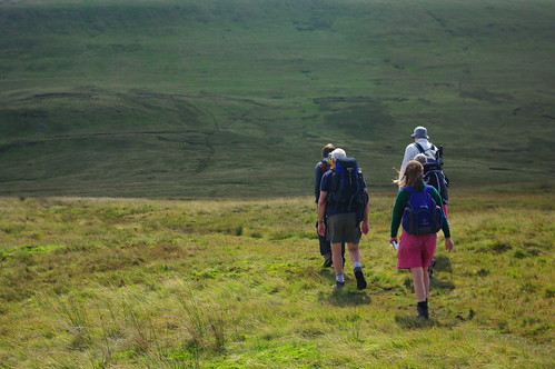 20110821-17_Descent off Craig Cerrig Gleisiad on The Beacons Way by gary.hadden