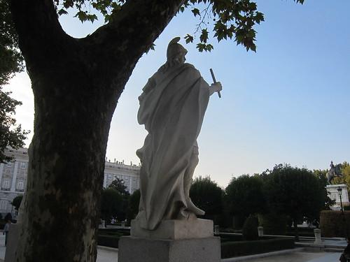 Plaza de Oriente, atardecer. Madrid