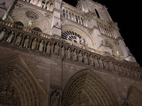 Night at Notre Dame Cathedral