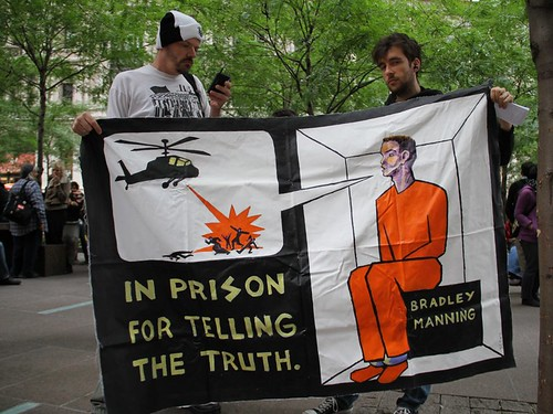 Bradley Manning is in prison for telling the truth