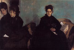 The Duchess di Montajesi with Her Daughters Elena and Camille c.1876, by Degas