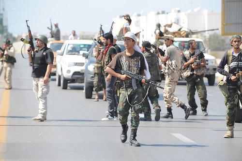 Atmosphere in Tripoli Libya on August 25, 2011