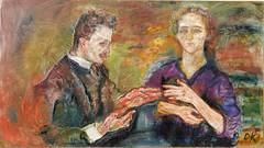 Hans Tietze and Erica Tietze-Conrat, 1909, by Kokoschka