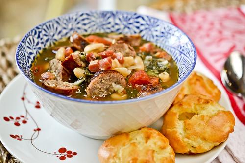 Swiss Chard, White Bean & Sausage Soup