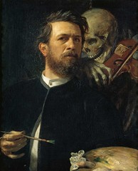 Self Portrait with Death as a Fiddler, 1871-74, by Arnold Böcklin