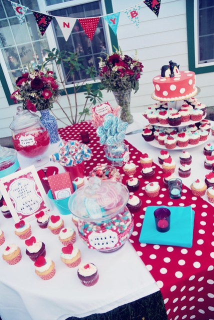 candy bar and cupcakes