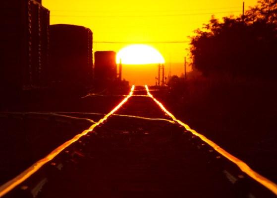 Railroad Tracks Ablaze