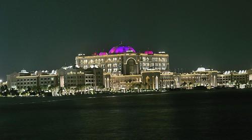 Night shot of the Emirates Palace, Abu Dhabi