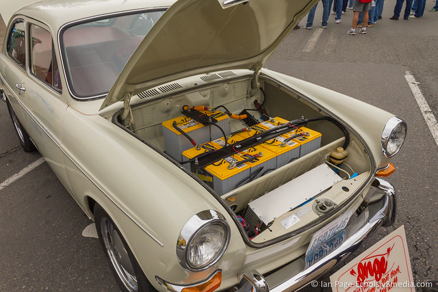 """Inge"" 1967 VW Type 3 Fastback Electric Car, Front - 2011-09-18 (1)"