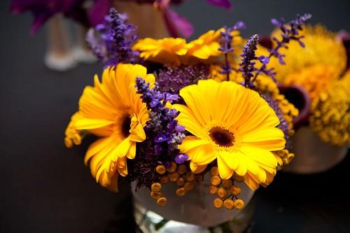 Floral arrangement at reception