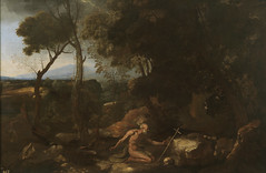 Landscape with Saint Jerome, 1637, by Poussin