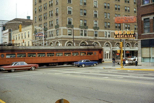 19680810 08 South Shore Line @ LaSalle & Michigan in South Bend