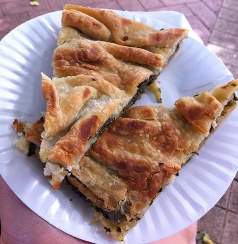 Greek Spinich & Feta Pita at Subiaco Farmers Market