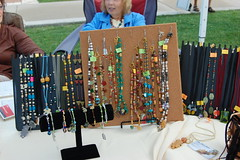 Necklaces displayed at Harbor Market