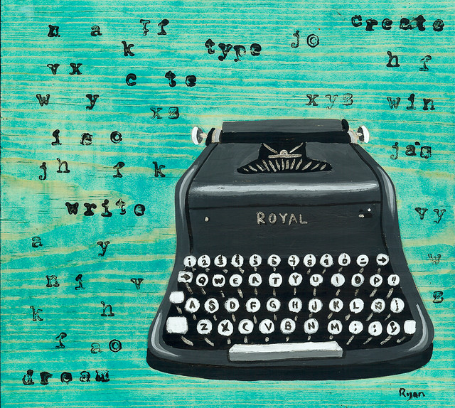 grey typewriter