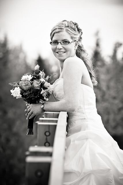 Happy Bride at UNBC