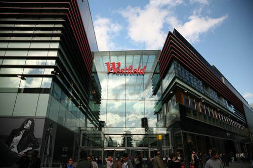 Westfield Stratford City shopping centre inside photo