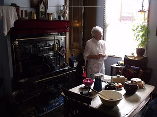 Black Country Living Museum - The Village Centre - The Chainmaker's House - kitchen - cast iron cooker