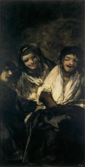 Two Women and a Man, from 'The Black Paintings,' 1821-23, by Francisco de Goya