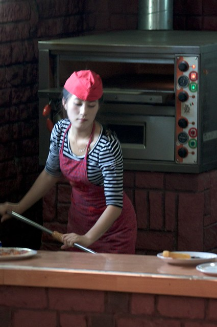 Pizza in Pyongyang, North Korea