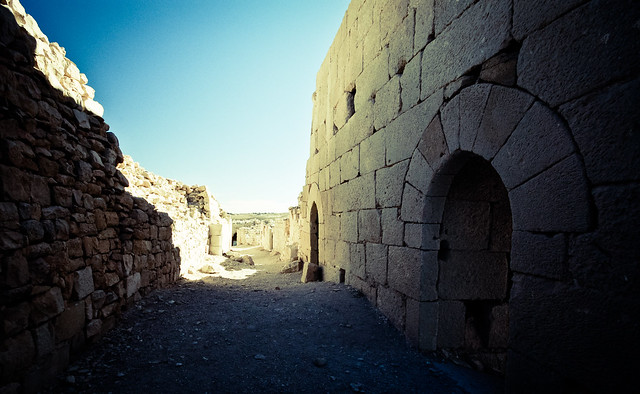 Inside the ruins of Shobak castle