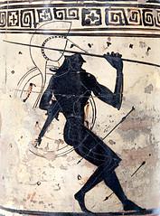 Greek warrior with spear, by DeRidder299