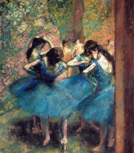 Edgar Degas - Blue Dancers, 1893 at Musée d'Orsay Paris France