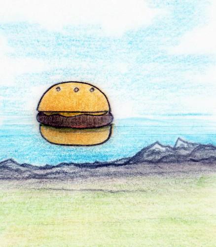 unidentified flying hamburger by Giant Hamburger