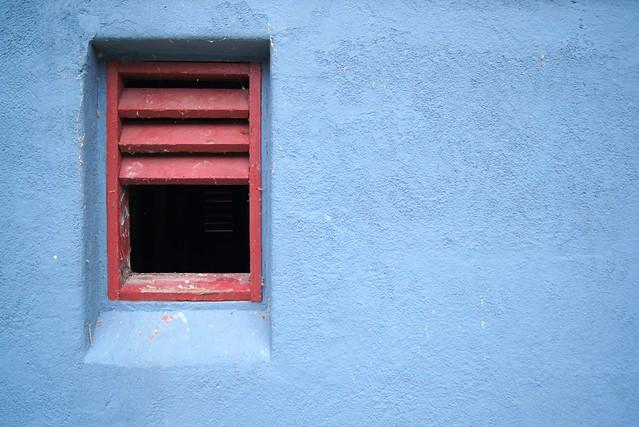 Blue Wall, Red Window