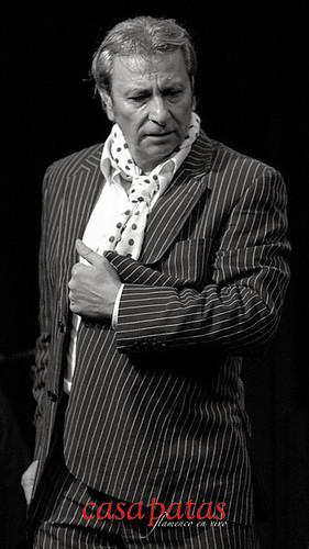 Pepe Carmona en nuestro tablao. Foto: Martín Guerrero.