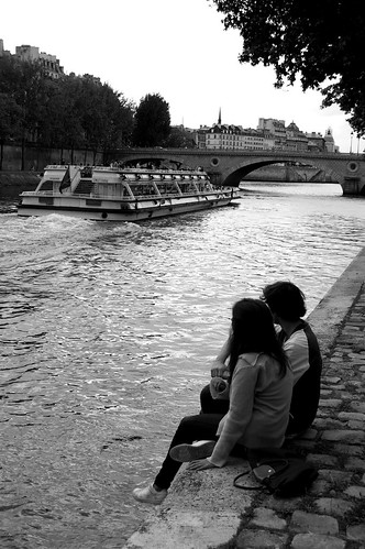 A Couple by the Seine