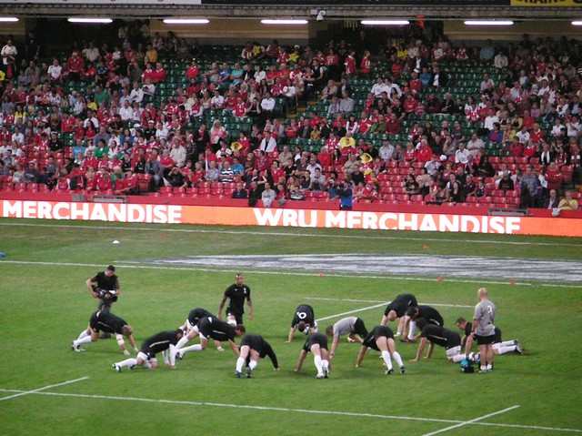 Wales v England RWC Warmup game-Prematch training