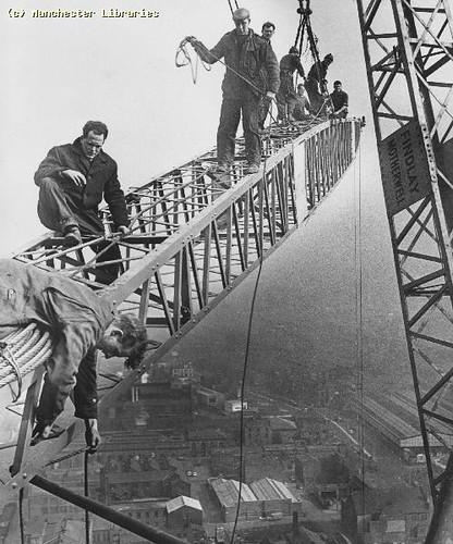 Construction of CIS building, c.1963