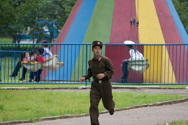 Soldier at the Park