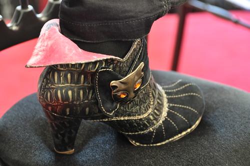 Theresa Breslin's boot