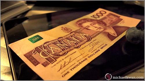 Canada $1000 Bill