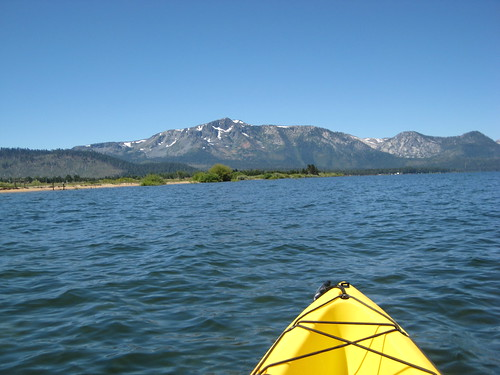 the lake and the Sierras from the kayak