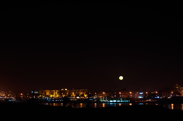 Moon over Luxor