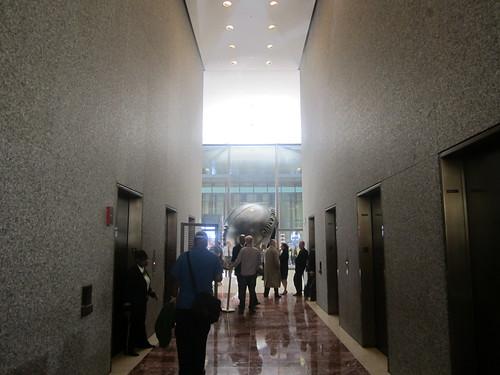 Globe in building
