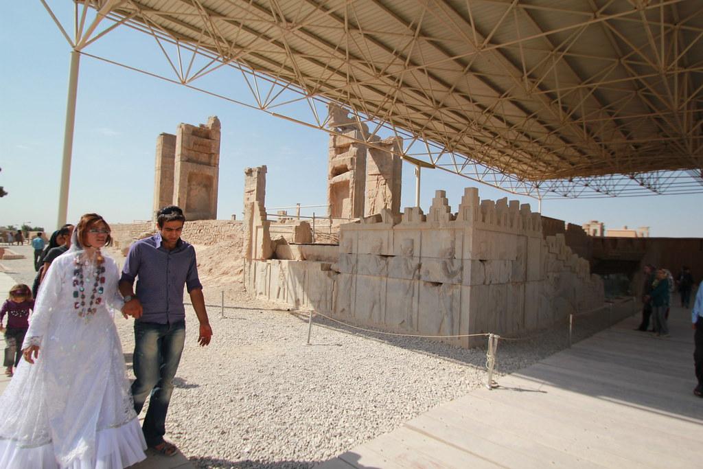 Bride and Groom at Persepolis