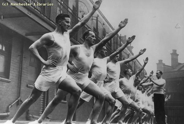 Police Physical Training Class, 1936