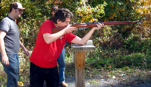 20111016 - 1 - shooting range - 1111 - Clint - shooting rifle - IMG_3828