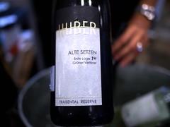 Huber Alte Setzen Erste Lage Traisental Reserve. World Gourmet Series Wine & Restaurant Experience 2011 WRX Wine Journey