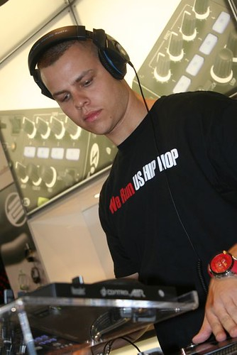 Mr. E of RPS Fam djing at Musikmesse 2012